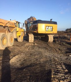 Line Boring of CAT 365 Excavator And General Line Boring