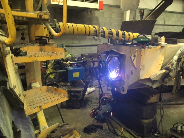 Line Boring Tunnel of Volvo A40