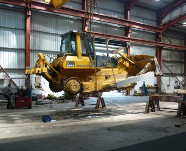 undercarriage repair on komatsu 65 dozer